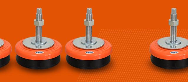 Narancssárga (RAL 2004) antivibrációs gépláb